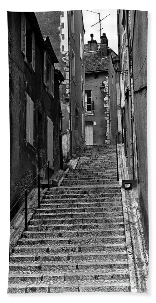 Stairs Hand Towel featuring the photograph Stairway In France by Madeline Ellis