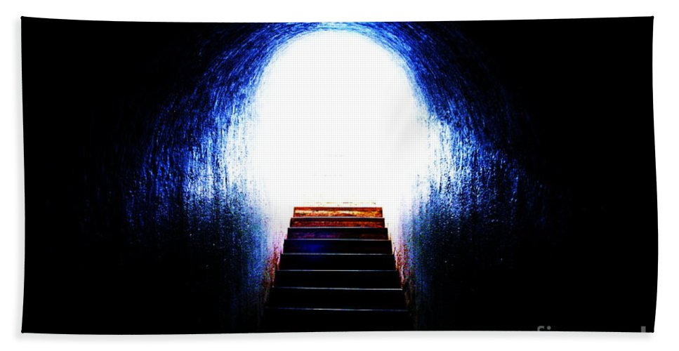Abstract Photo Bath Sheet featuring the photograph Stairway To Heaven by Onie Dimaano