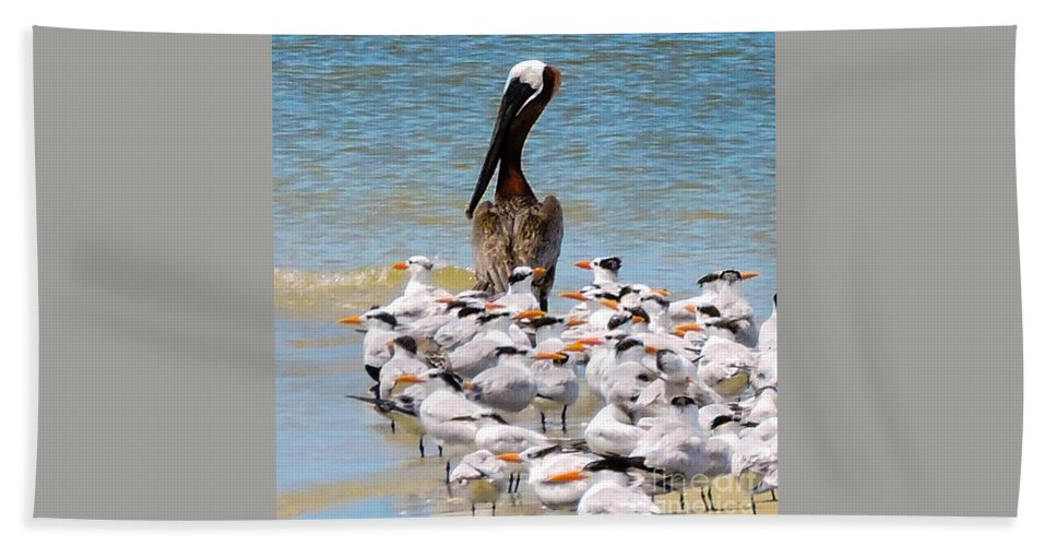 Shorebirds Hand Towel featuring the photograph Standing On Point by Marilee Noland