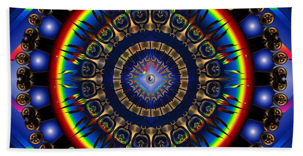 Star Hand Towel featuring the digital art Star Burst by Robert Orinski