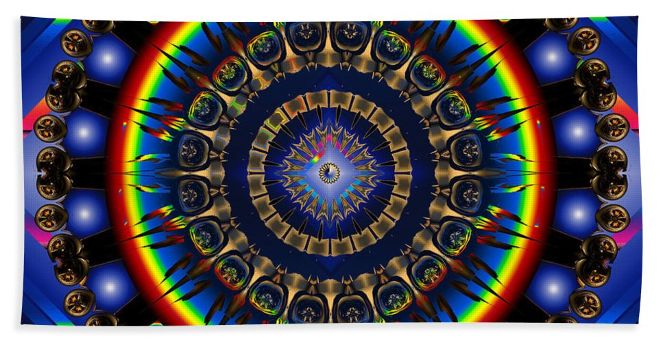 Star Bath Sheet featuring the digital art Star Burst by Robert Orinski