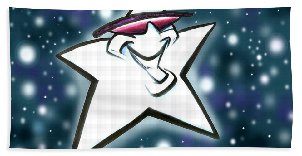Star Hand Towel featuring the digital art Star by Kevin Middleton