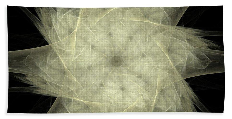 Fractal Hand Towel featuring the digital art Star Of The Future by Deborah Benoit