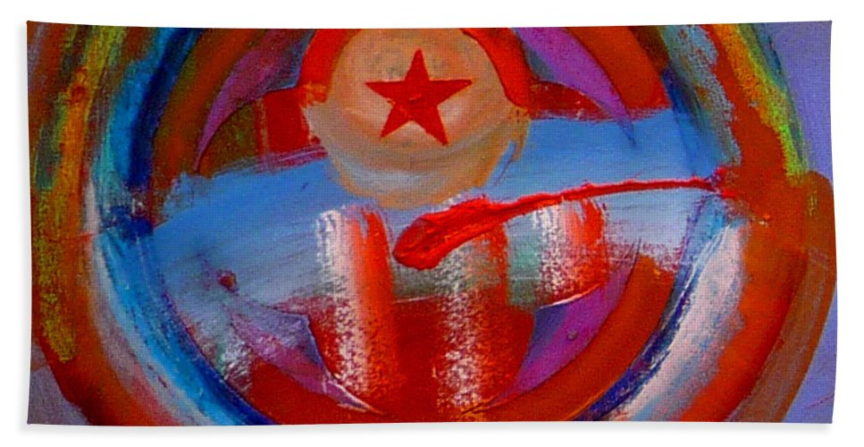 Love Bath Towel featuring the painting Star Of The Sea by Charles Stuart