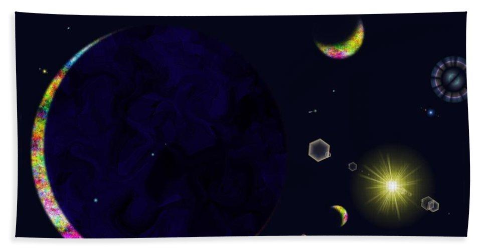 Bath Sheet featuring the digital art Star Shine by Tim Allen