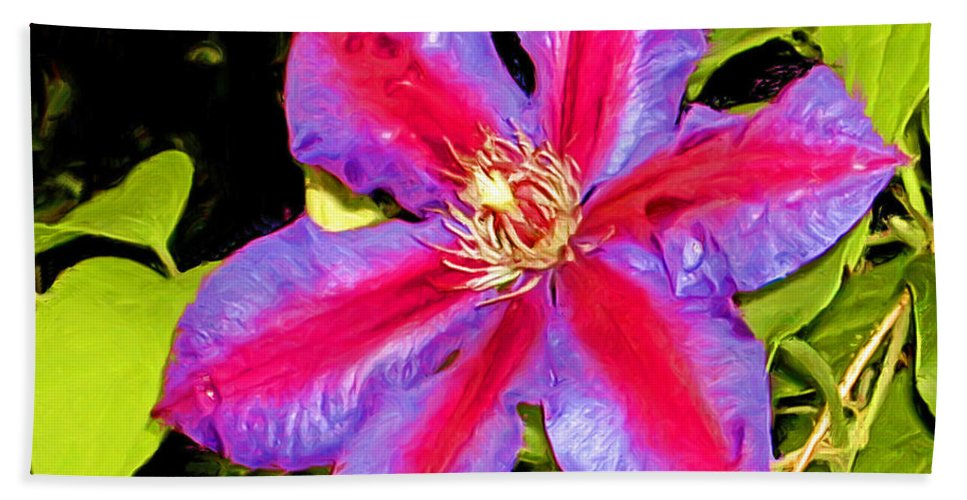Fine Art Photography Hand Towel featuring the painting Star Treatment by Patricia Griffin Brett