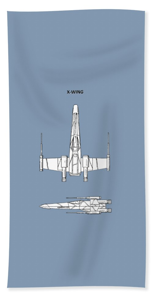 X-wing Bath Towel featuring the photograph Star Wars X-wing Fighter by Mark Rogan