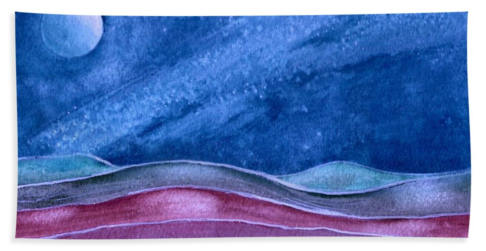 Landscape Bath Sheet featuring the painting Stardust by Brenda Owen
