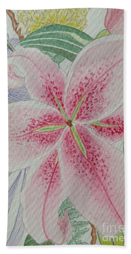 Aimee Mouw Bath Sheet featuring the painting Stargazer by Aimee Mouw