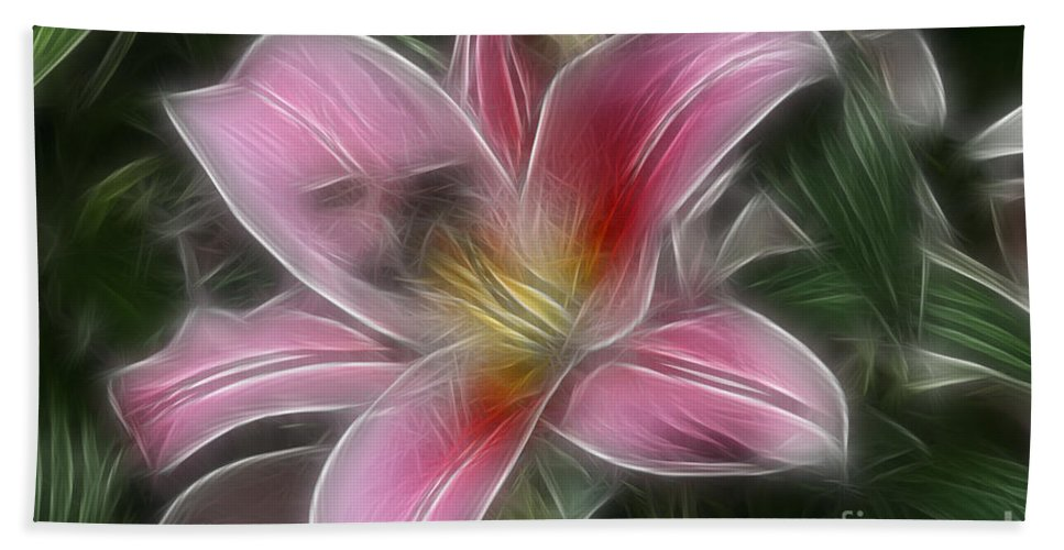 Flower Hand Towel featuring the photograph Starlight by Deborah Benoit