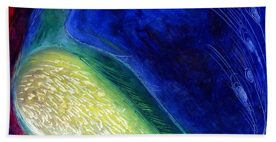 Star Bath Sheet featuring the painting Starlight by Nancy Moniz
