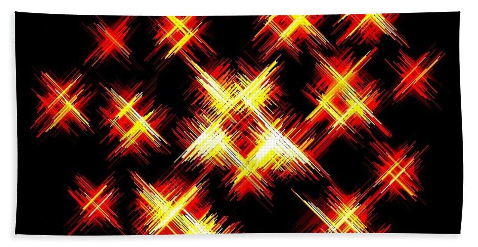 Abstract Bath Sheet featuring the digital art Starlight by Will Borden