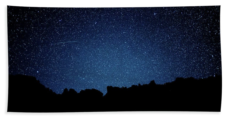 Stars Bath Sheet featuring the photograph Stars Above by Corey Peel