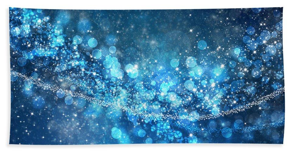 Abstract Hand Towel featuring the photograph Stars And Bokeh by Setsiri Silapasuwanchai