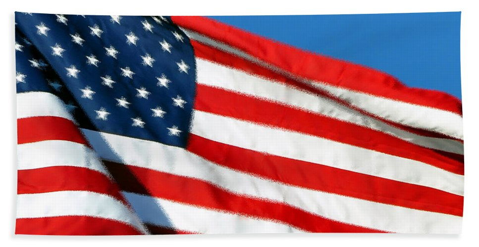 Flag Bath Sheet featuring the photograph Stars And Stripes by Al Powell Photography USA