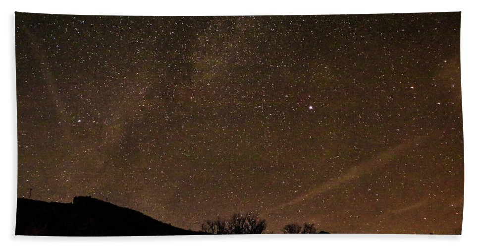 Aspen Bath Sheet featuring the photograph Start Night In Aspen by Chaznik Raab