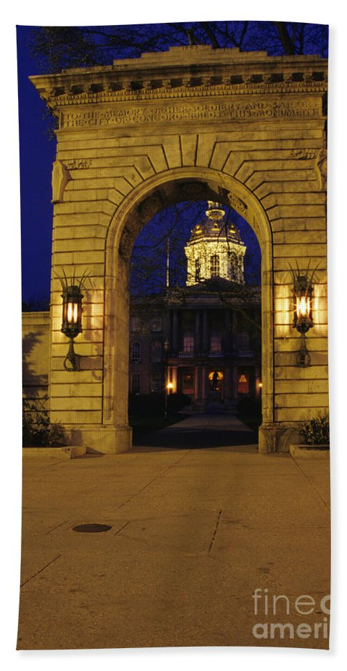 City Bath Towel featuring the photograph State Capitol Building - Concord New Hampshire Usa by Erin Paul Donovan
