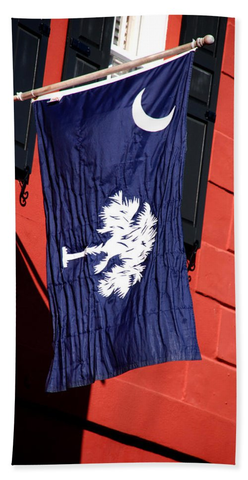 Photography Hand Towel featuring the photograph State Flag Of South Carolina by Susanne Van Hulst