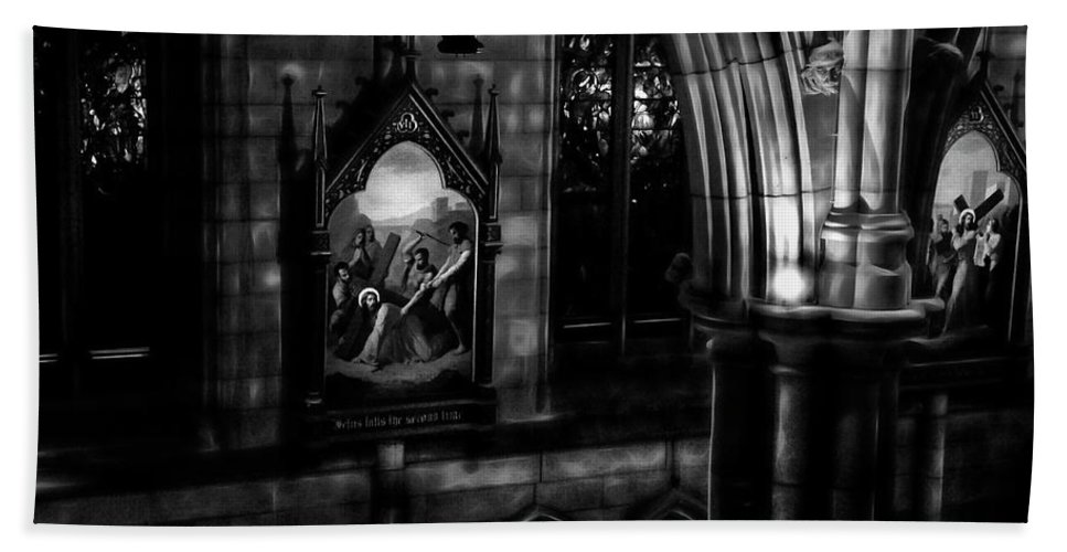 Stations Of The Cross Hand Towel featuring the photograph Stations Of The Cross by Miroslava Jurcik