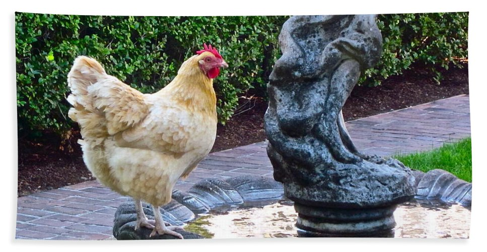 Garden Photograph Hand Towel featuring the photograph Statuesque by Gwyn Newcombe