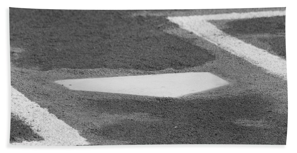 Home Plate Bath Sheet featuring the photograph Stealing Home by Laddie Halupa