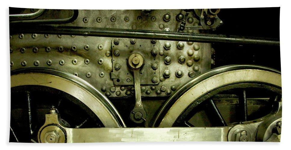 Train Photographs Bath Sheet featuring the photograph Steam Power I by Theresa Tahara