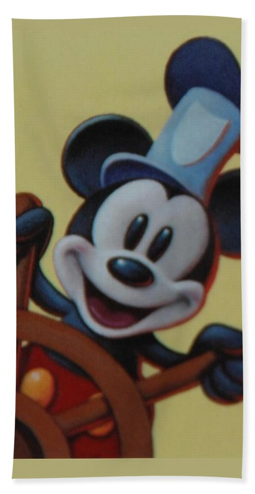 Disney Bath Towel featuring the photograph Steamboat Willy by Rob Hans