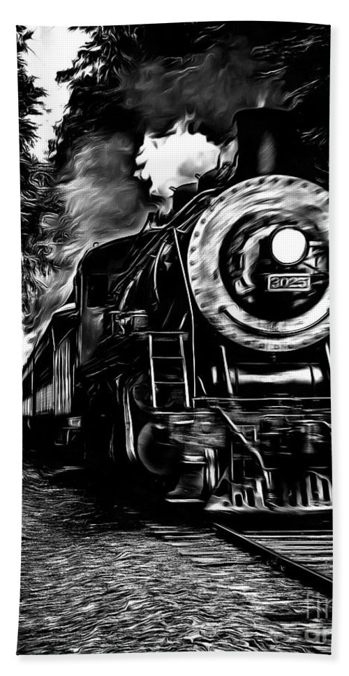 Train Bath Sheet featuring the photograph Steaming Through The Pass by Edward Fielding