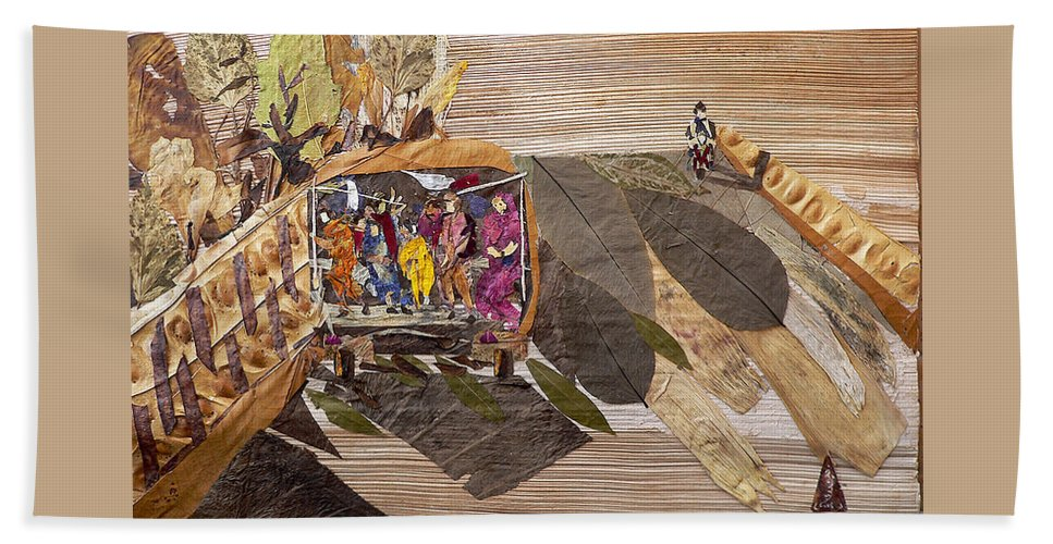 Tempo Drive To City Hand Towel featuring the mixed media Steep Riding by Basant soni