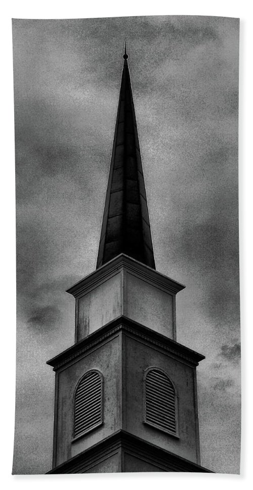 Steeple Hand Towel featuring the photograph Steeple by Gina Welch