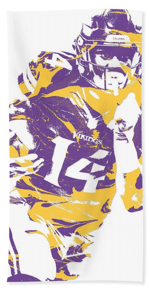 79047e73 Stefon Diggs Minnesota Vikings Pixel Art 2 Bath Towel