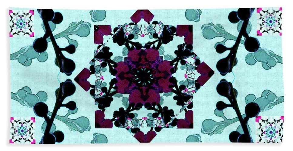 Creation Hand Towel featuring the mixed media Stellar 4 by Jesus Nicolas Castanon