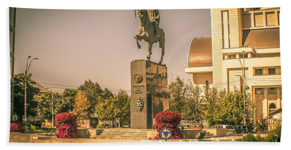Romania Hand Towel featuring the photograph Stephen The Great by Claudia M Photography