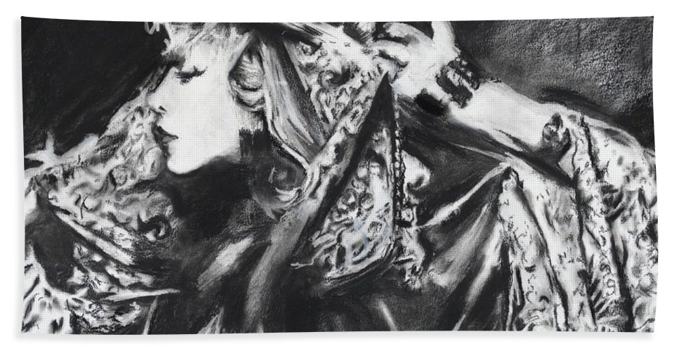 Stevie Nicks Bath Towel featuring the painting Stephie Lynn's Not My Lover by Eric Dee