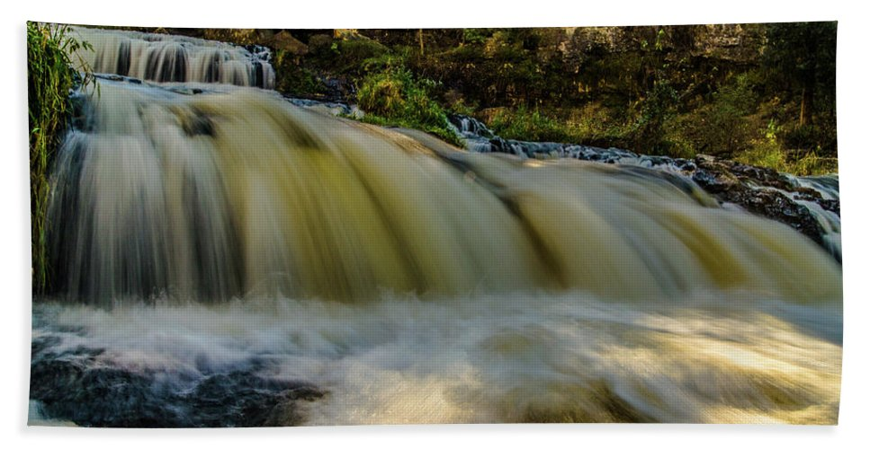 Willow River Falls Bath Sheet featuring the photograph Steps by Lowlight Images