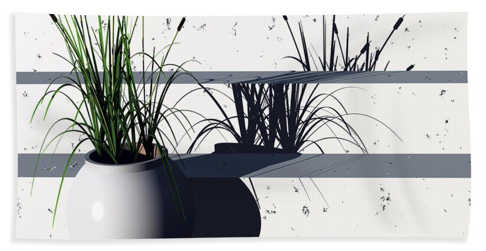 Steps Bath Towel featuring the digital art Steps by Richard Rizzo