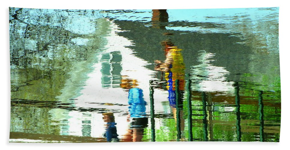 Abstract Hand Towel featuring the photograph Steps Of Generations by Sybil Staples