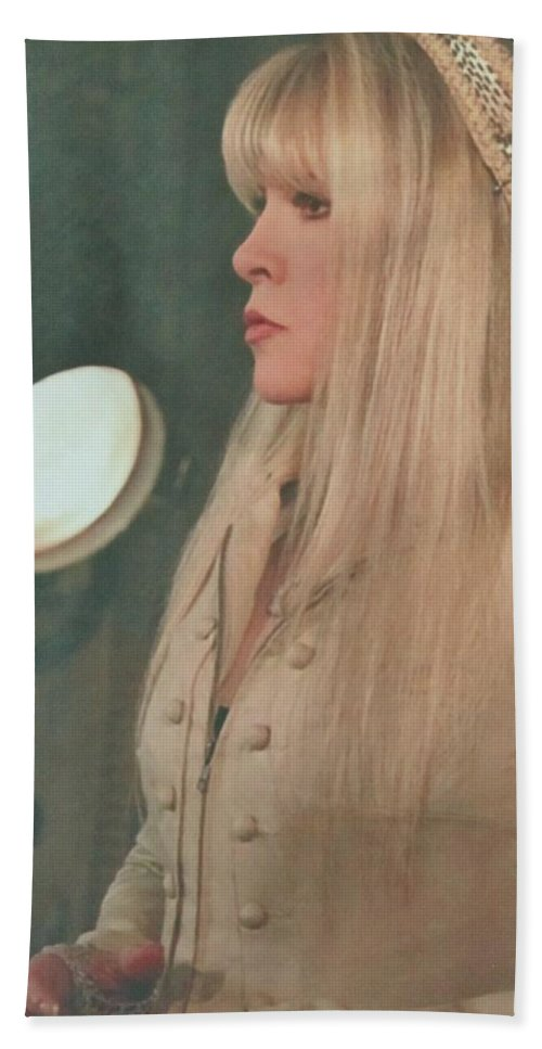 Stevie Nicks Bath Sheet featuring the photograph Stevie Nicks In Profile by Donna Wilson