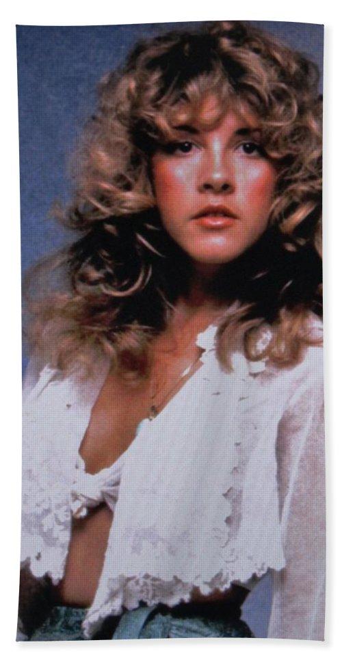Stevie Nicks Art Bath Sheet featuring the photograph Stevie Nicks In Curls by Donna Wilson