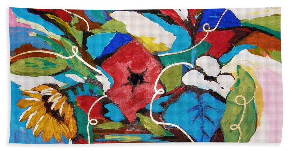 Floral Hand Towel featuring the painting Still Dreaming Of Tuscany by Gina Hulse