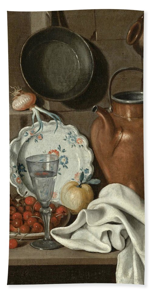 Carlo Magini Bath Sheet featuring the painting Still Life by Carlo Magini