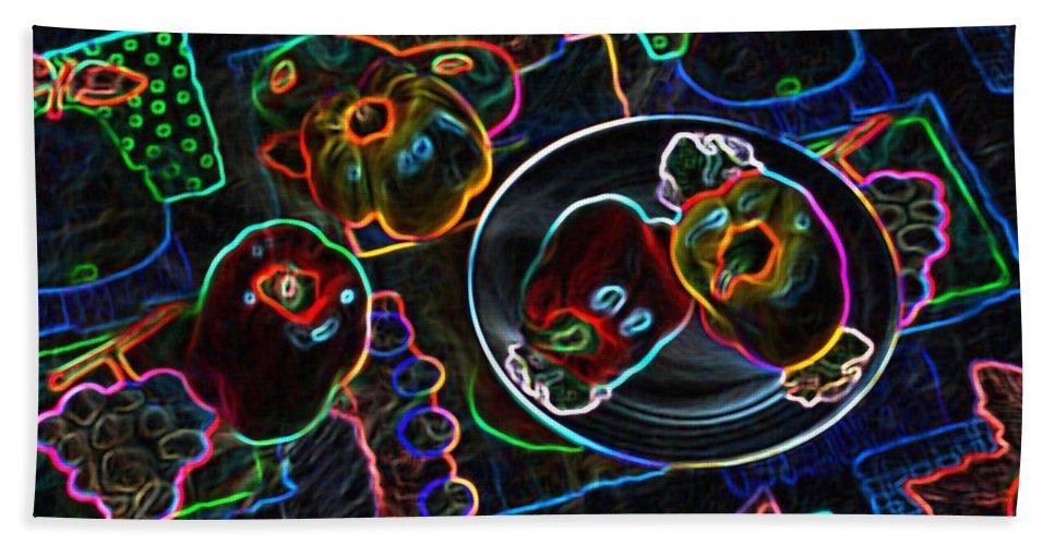 Still Life Hand Towel featuring the digital art Still Life D by Iliyan Bozhanov