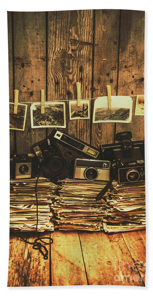 Camera Bath Towel featuring the photograph Still Life Nostalgia by Jorgo Photography - Wall Art Gallery