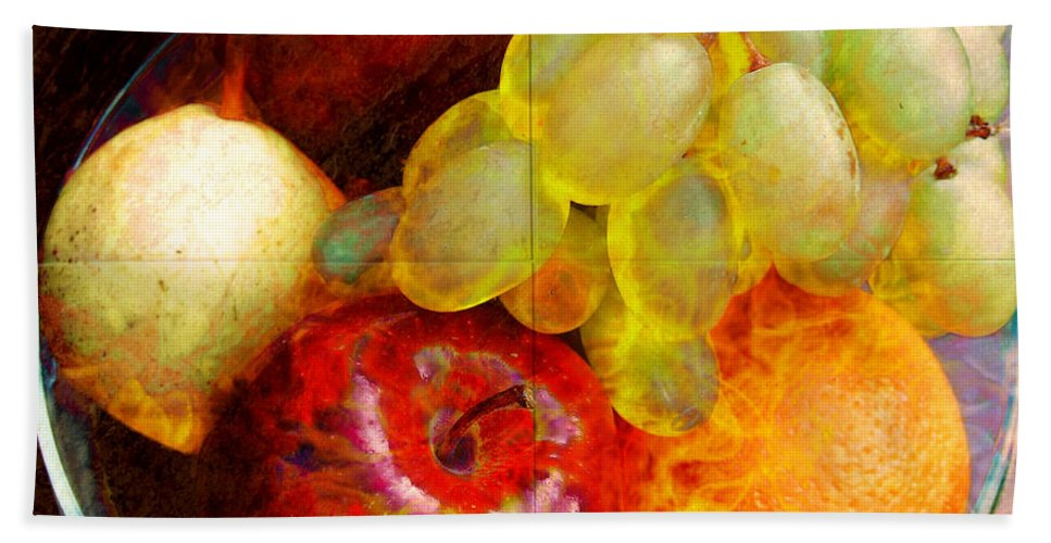 still Life Bath Sheet featuring the digital art Still Life Tiles by Barbara Berney