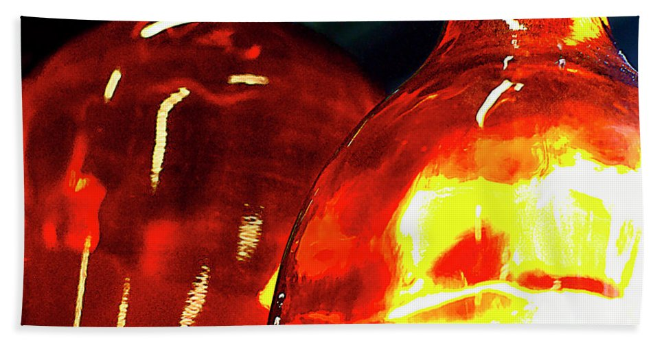 Glass Hand Towel featuring the photograph Still Life With Glass Vases. by Alexander Vinogradov