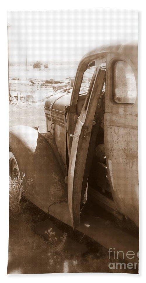 Disrepair Bath Sheet featuring the photograph Still Waiting On Repairs by Carol Groenen