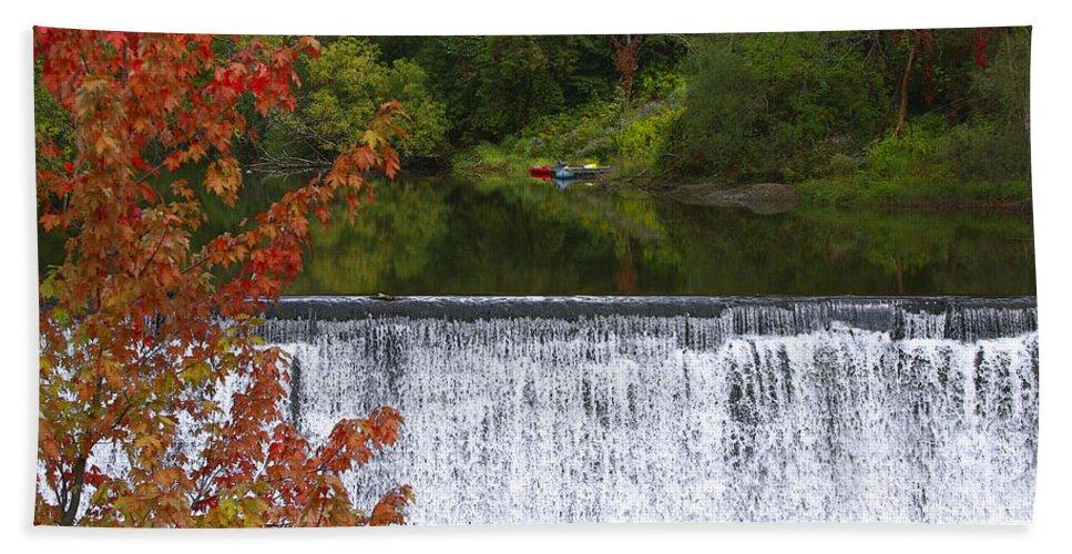 Falls Hand Towel featuring the photograph Stillness Of Beauty by Deborah Benoit