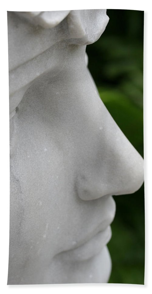 Stone Statue Viscaya Gardens Miami Photography Garden Hand Towel featuring the photograph Stone 5 by Norah Holsten