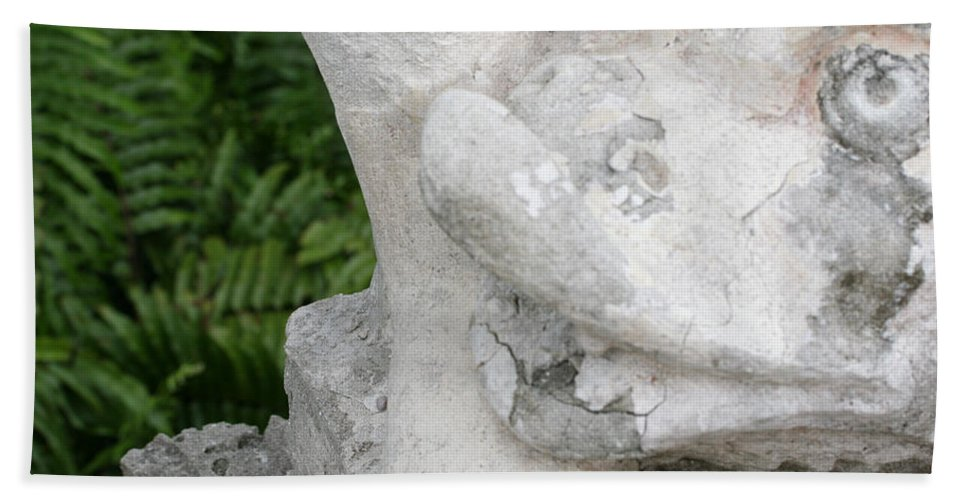 Stone Statue Viscaya Gardens Miami Photography Garden Hand Towel featuring the photograph Stone 7 by Norah Holsten