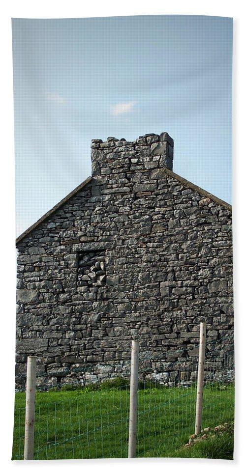 Irish Bath Sheet featuring the photograph Stone Building Maam Ireland by Teresa Mucha